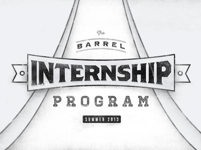 Barrel Internship Program Summer 2013