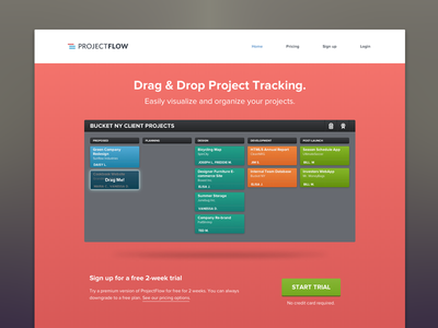 ProjectFlow Premium [LIVE] projectflow premium barrel webapp project tracking landing home page dragdrop