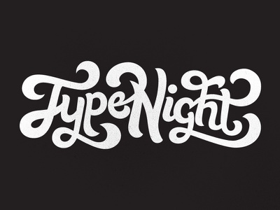 Type Night [WIP] type night hand-lettering lettering hand drawn type typography illustration wip