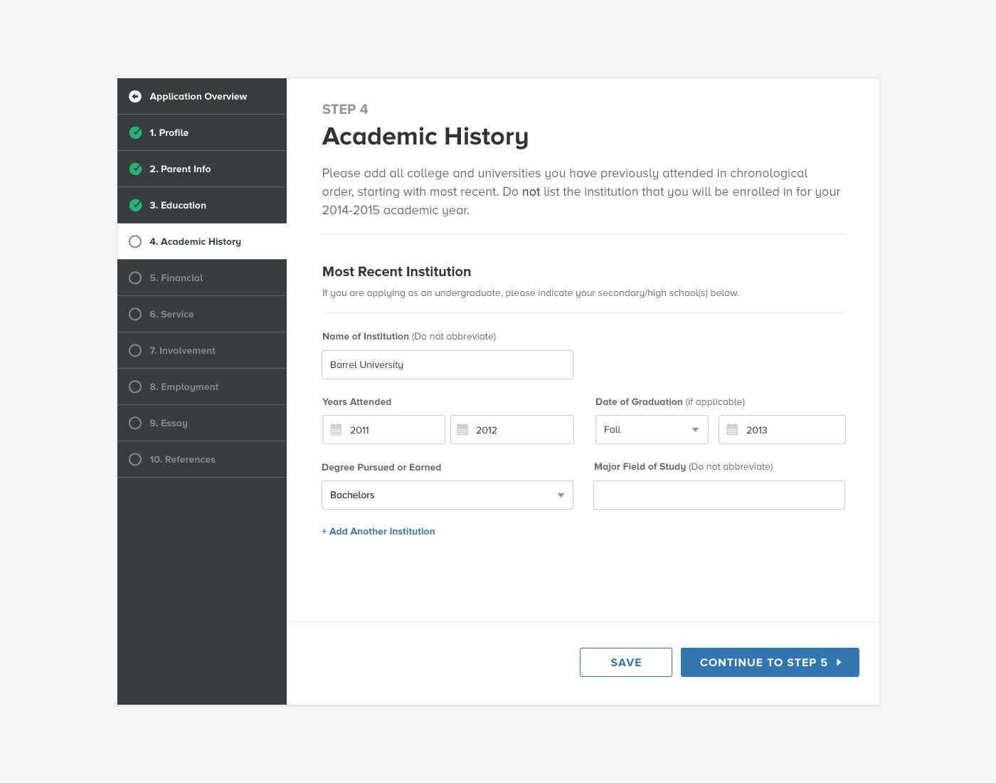 Application flow fullview