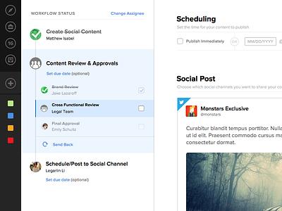 Task Workflow assignee timeline scheduling social status task status ui task workflow