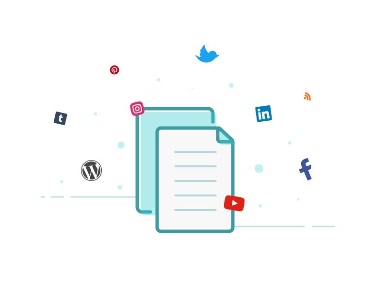 Empty states illustration: Content Manager ux ui notes paper social social media illustration empty states app