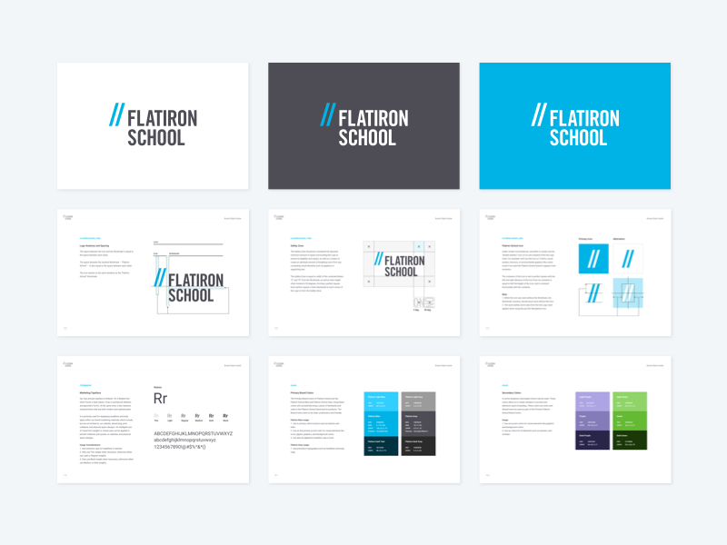 Flatiron School Brand Style Guide by Jan Cantor on Dribbble