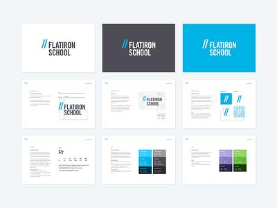 Flatiron School Brand Style Guide roboto brand style guide logo anatomy logo typography color palette rules styleguide style guide brand guidelines brand flatiron school