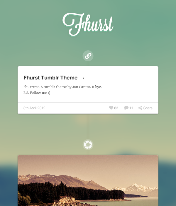 Fhurst tumblr theme