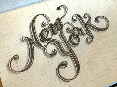 New york lettering
