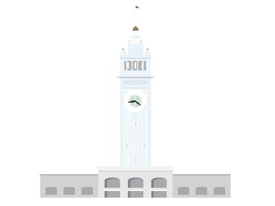 San Francisco Ferry Building Icon