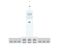San Francisco Ferry Building Icon