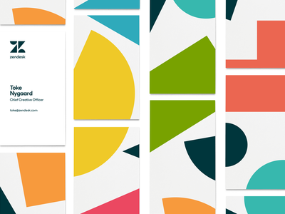 Zendesk Rebrand - Bizness Cards relationshapes geometric shapes business card