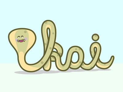 Cobra Kai type script illustration