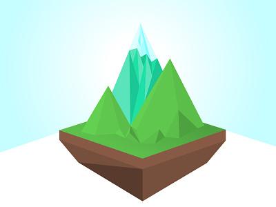 Mountains polygon mountains vector