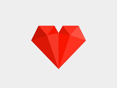 Strong Heart polygon heart