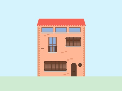 Building series vector town house building