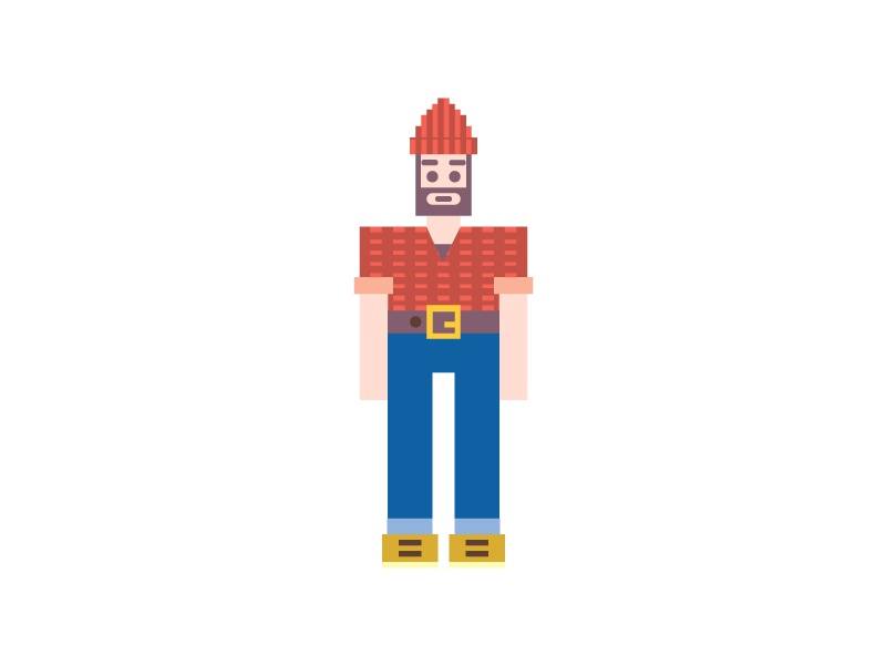 Lumberjack pixel 8bit vector lumberjack