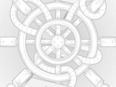 Steady steering-wheel vector illustration