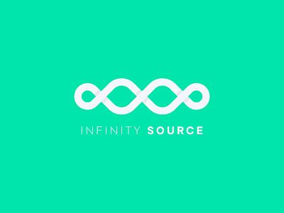 Infinity Source logo loop infinity logo