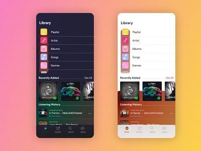 Riff Library music app product design app design ux design emotional design typography visual design uiux ui