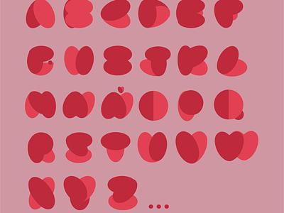 HEART typography heart typography vector design