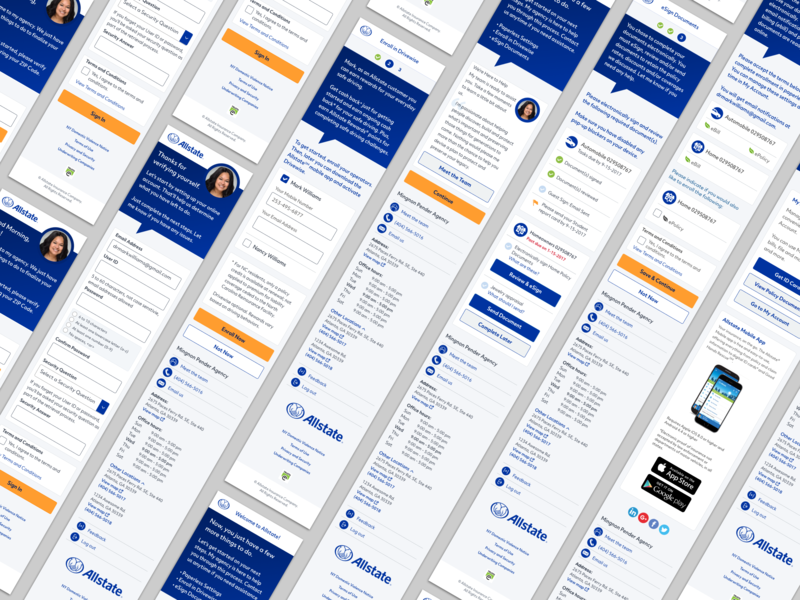 Personalized Onboarding Experience responsive design app ux ui