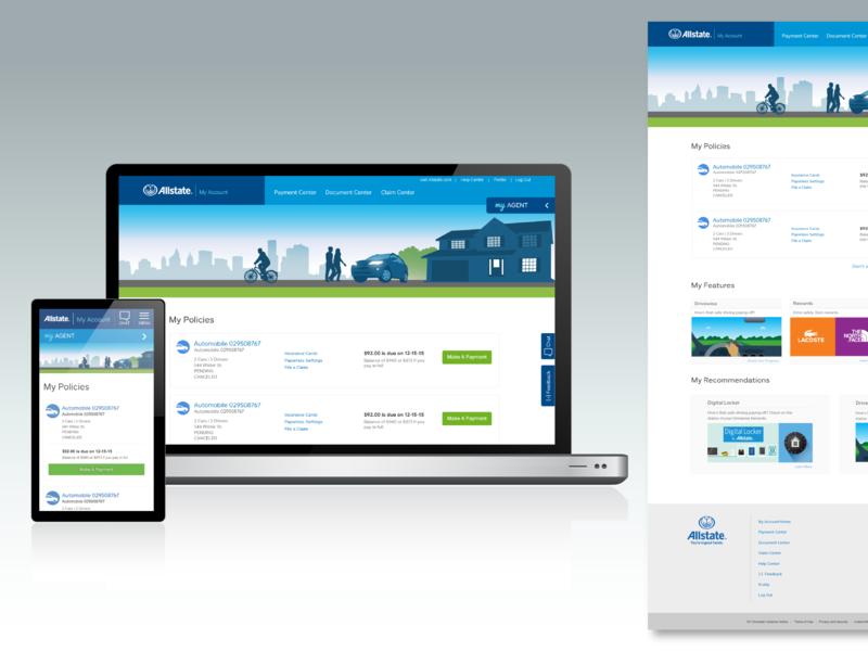 My Account Responsive Re-design website web design illustration ux ui responsive design