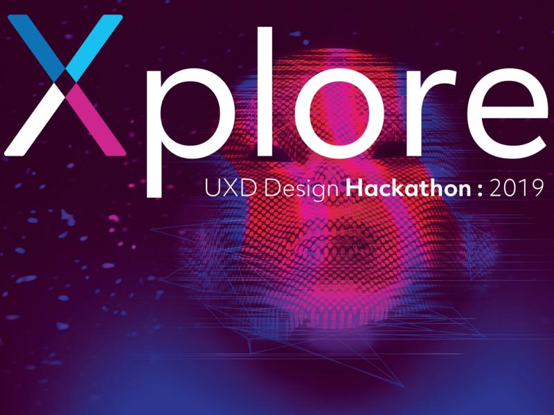 Xplore email app poster branding hackathon visual design