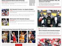 Athlon Sports Website Infinite Scroll UI