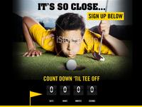 Custom Golf Game Teaser page