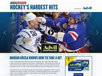 Hockey's Hardest Hits Concept Mock for Advil