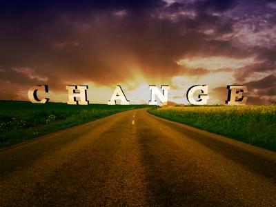 Change Is On The Horizon. life changes typography