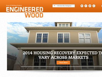 Engineered Wood (LP) Blog Design lp engineered wood blog design news site