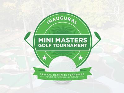 Mini Master Golf Tourney Logo mini masters golf logo putt putt green
