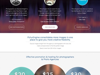 Stock Photo Search Engine Web Design picturengine stock photography site modern clean ui typography