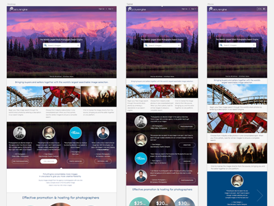 Stock Photo Search Engine Web Design responsive design content based break points