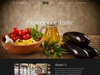 Restaurant Style Website Design restaurant food photography dark bold elegant