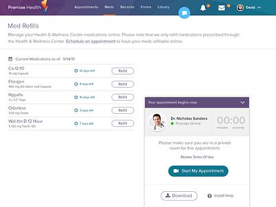 Patient Telehealth App appointments minimal design modern healthcare ui