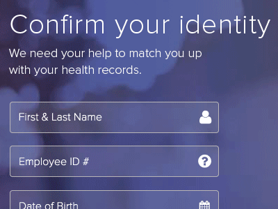 Animated Portal Login Screen animated login animated gif appointments minimal design modern healthcare ui