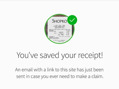 Saved Receipt Mobile page