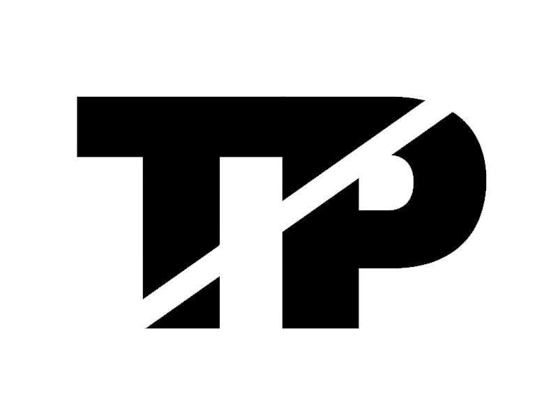 TP Monogram Identity  - Black & White branding typography logo monogram