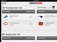 Athlon Sports iPad Score Board Page