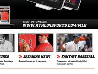 Full Page Print Ad for Athlon Sports MLB Annual Magazine