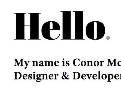 Latest portfolio typography