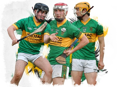 Hurling Match Program gold green strokes brush photoshop players creggan hurling gaa