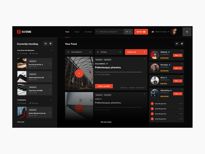 Beatstars Website Redesign Concept Pt. 1 typography web grid digital interactive cards user experience ux uiux ui dashboard ui dark ui dashboard music hip hop beats