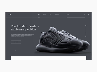 Nike Air Max Lookbook Concept Site Interaction poly substance octane c4d cinema 4d 3d maxon render ux ui web grid digital design website nike air max nike