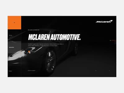 McLaren Web Experience grid web ux ui digital octanerender octane c4d cinema4d layout website design website interaction interactive car mclaren