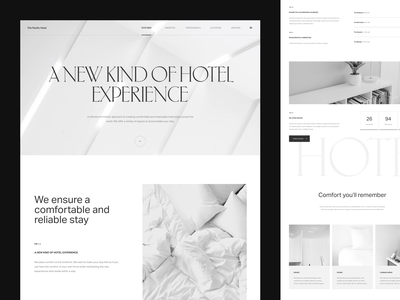 Pacific Hotel Wireframe website grid web typography vector digital typogaphy uxdesign layout ui ux wireframe hotel pacific
