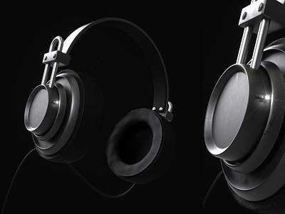 Headphones Render illustration icon identity ui branding design digital illustration digital octane render modeling c4d cinema 4d headphones