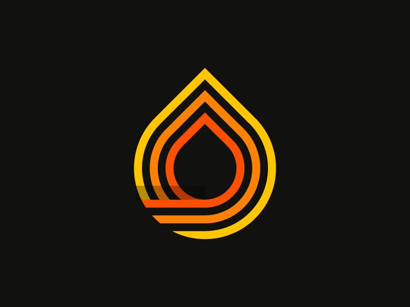 A fire logo dribbble 09
