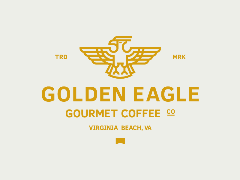 Golden Eagle Coffee brand logo mark identity branding tea bird coffee eagle gold