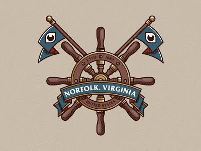 Norfolk design digital branding mark icon badge logo illustration virginia norfolk